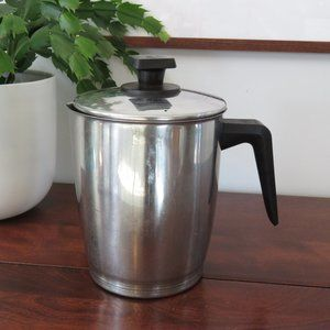 Rena Stainless Steel Stovetop Coffee Pot Pitcher with Lid, Carafe